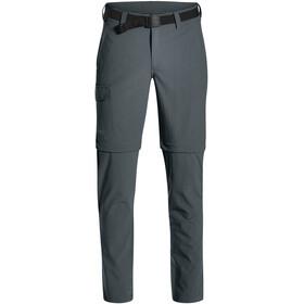 Maier Sports Torid Slim Pantalon convertible avec fermeture éclair Homme, graphite